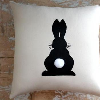 Easter Pillow, Bunny, Rabbit, Easter Decor, Home Decor, Cottage Decor