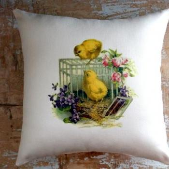 Easter Pillow, Chicks, Easter Decor, Cottage Decor, Home Decor